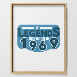 LEGENDS ARE BORN IN 1969 Serving Tray