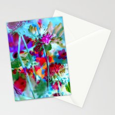 Secret Garden II - Floral Abstract Art Stationery Cards