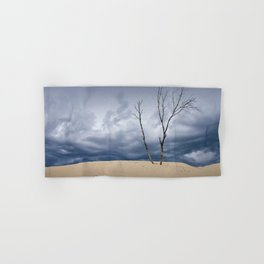 Wind Swept Clouds over the Dunes Hand & Bath Towel