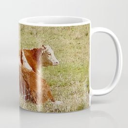 Cows Resting in Pasture Coffee Mug