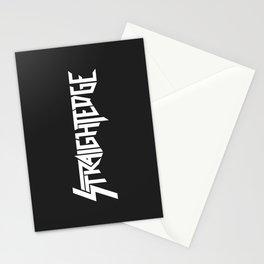 Straight Edge Metal Logo Stationery Cards