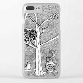 Springtime Birds Clear iPhone Case