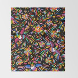 Birdy Colors Throw Blanket