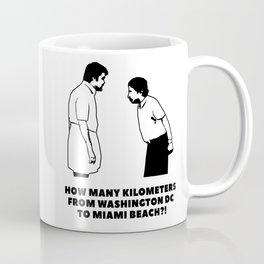 How many kilometers from Washington DC to Miami Beach Coffee Mug