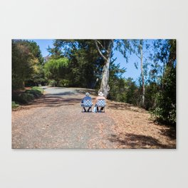 Couple on the way up Canvas Print