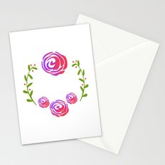 Floral Round Stationery Cards