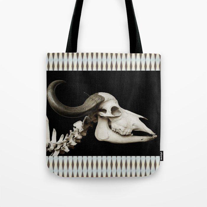 Cattle Skull 4 Tote Bag