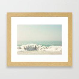Hard hitting wave Framed Art Print