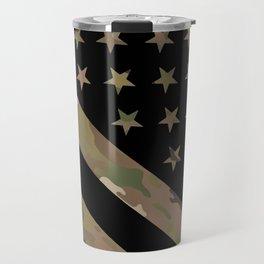 U.S. Flag: Military Camouflage Travel Mug