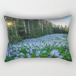 High Country Lupine - Purple Wildflowers in Montana Mountains Rectangular Pillow
