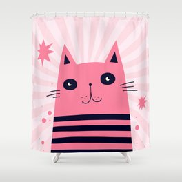 Dreaming Kitty Shower Curtain