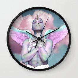 PINK UNICORN GAY Wall Clock