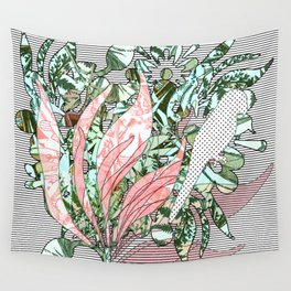 """""""Parrots & Floral Jungle"""" Wall Tapestry"""