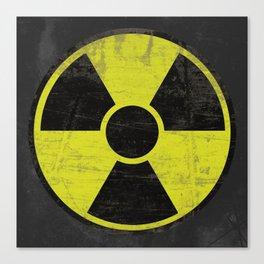 Grunge Radioactive Sign Canvas Print