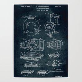 1962 - Toilet seat attachment patent art Poster