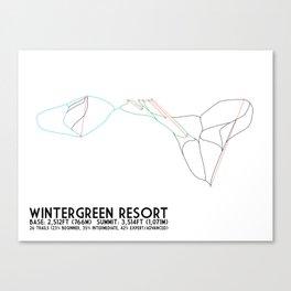 Wintergreen Resort, VA - Minimalist Trail Art Canvas Print