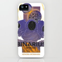 BINARIUS EPISODE I -- COVER (WHITE) iPhone Case