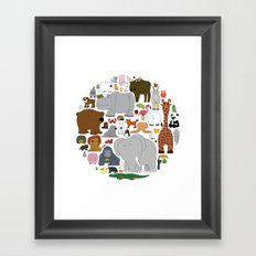 The Animal Kingdom Framed Art Print