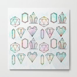 Crystal and Gemstones Vol 1 Metal Print