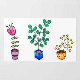 Flower pots Rug