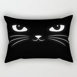 black kitty Rectangular Pillow