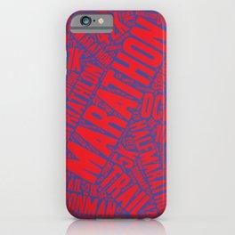The Marathon - purple background iPhone Case
