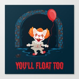 Frenchywise - You'll Float Too! Canvas Print