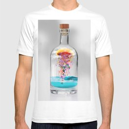 Electric Jellyfish Worlds in  a Bottle T-shirt