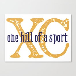 Purple & Gold XC: one hill of a course (cross country) Canvas Print