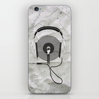 afro iPhone & iPod Skins featuring vinyl afro by Vin Zzep