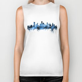 Houston Texas Skyline Biker Tank