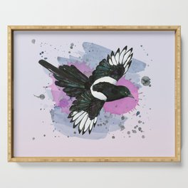 Flying magpie Serving Tray