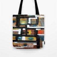 dancing Tote Bags featuring DANCING by JANUARY FROST