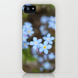 Forget-Me-Nots Three iPhone Case
