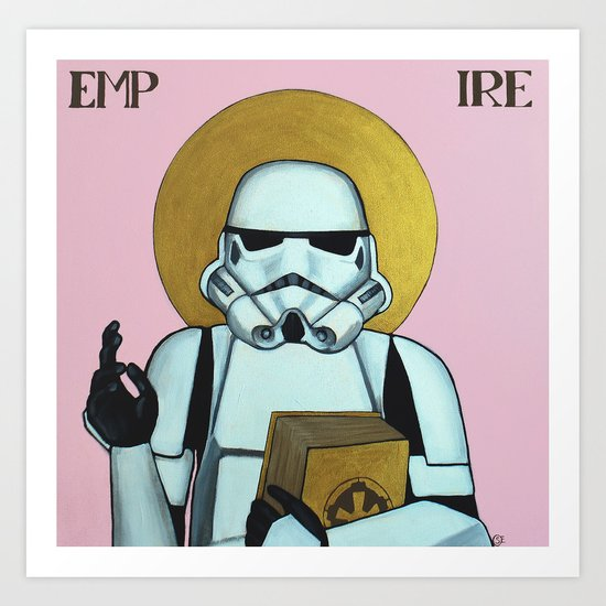 """EMPIRE"" - Star Wars, Stormtrooper Art Print"