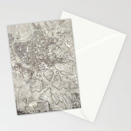 La pianta grande di Roma (The Large Plan of Rome), also known as The Nolli Map by Pietro Campana, Ca Stationery Cards