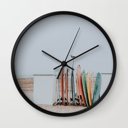 lets surf xxxiii / santa barbara, california Wall Clock