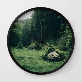 Forest Field - Landscape Photography Wall Clock