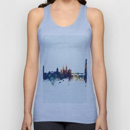 Basel Switzerland Skyline Unisex Tank Top