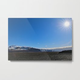 The Finery Ice and Sun Metal Print