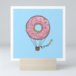 Donut Hot Air Balloon Mini Art Print