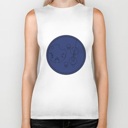 The Name of The Doctor (Gallifreyan) Biker Tank