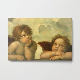 Raphael - Sistine Madonna Angels Metal Print