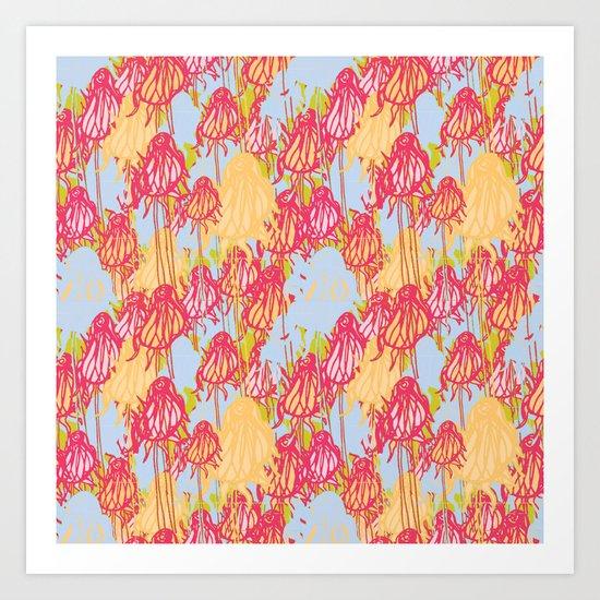 Dandelion Fields Art Print
