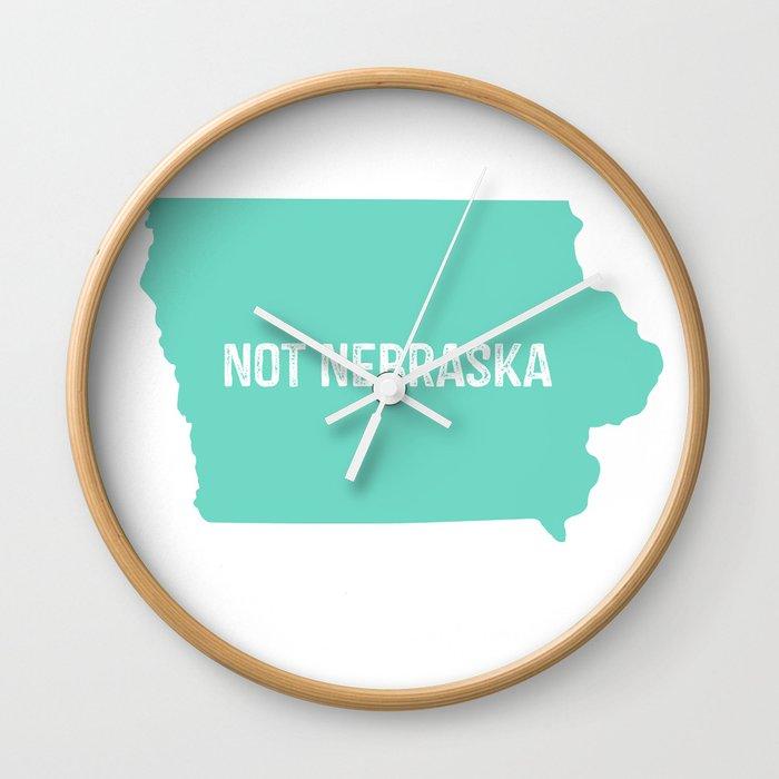 Not Nebraska  Wall Clock