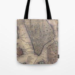 Lower Manhattan New York City Tote Bag