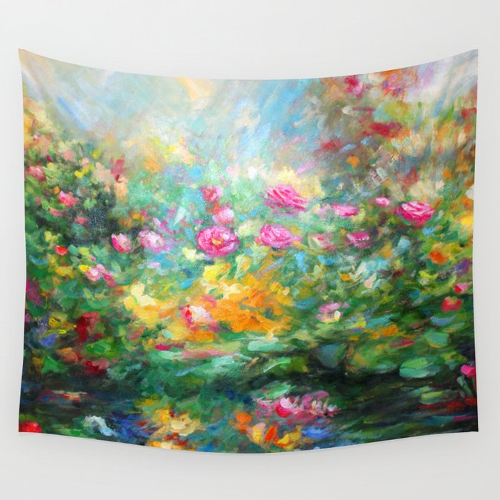 Roses paint  Wall Tapestry