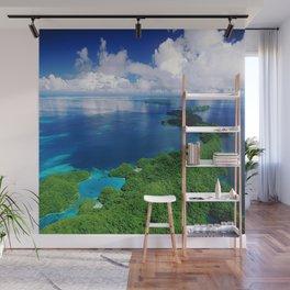 WOW!!! PALAU!! Tropical Island Hideaway Wall Mural
