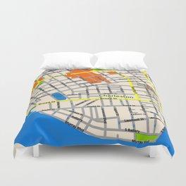 Map of Charleston, SC Duvet Cover