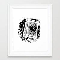 tarot Framed Art Prints featuring Tarot talk by pam wishbow